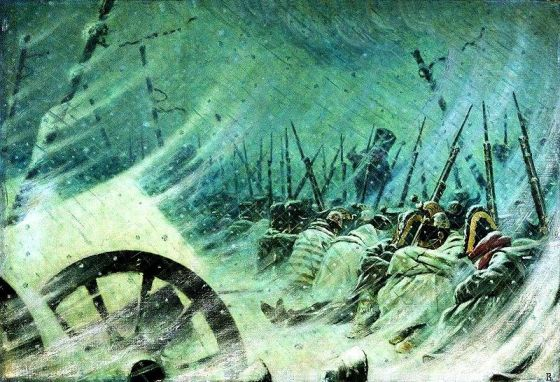 One of the largest armies in history was forced into a cruel wintery retreat by the smallest of foes -- lice.