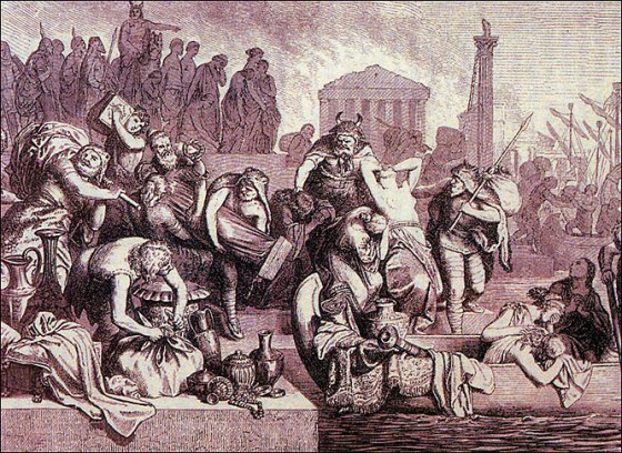 The Sacking of Rome by the Vandals in 455.