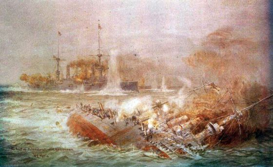 The 1914 Battle of the Falkland Islands.