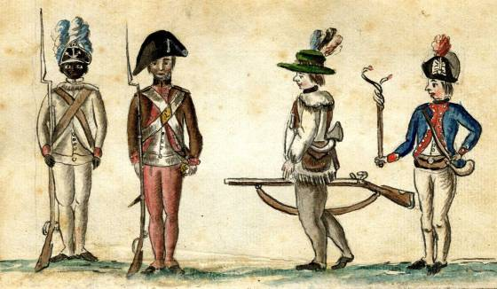 Loyalist troops during the American Revolution included both Tory colonists and runaway slaves.