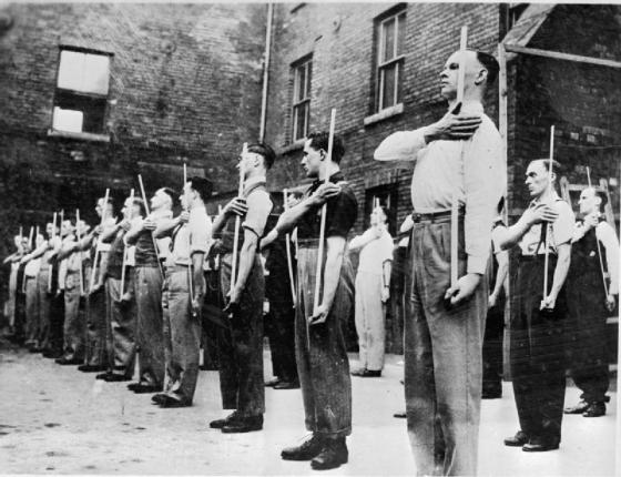 Pictures like these of the Home Guard preparing to fend off a German invasion of England often obscure the reality that Great Britain was still a formidable global super power in 1939, much more powerful that Nazi Germany.