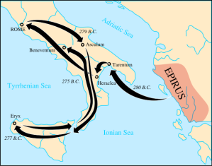 A map of the Pyrrhic War.
