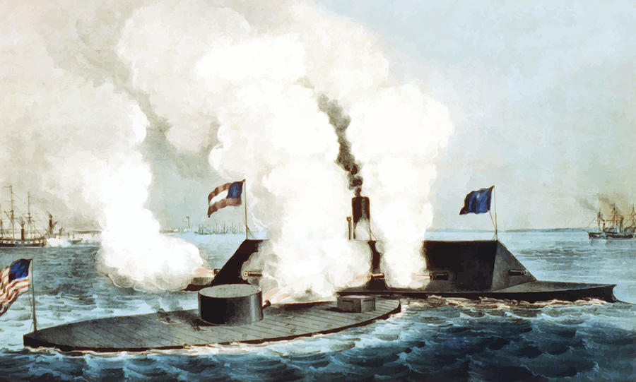 the battle between the uss monitor and the css merrimack in the civil war First major battle of the civil warthis battle helped boost southern morale and made the north realize that battle between uss monitor and css virginia (merrimack.