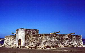 Originally built in 1742, Fort Montague still stands east of Nassau.