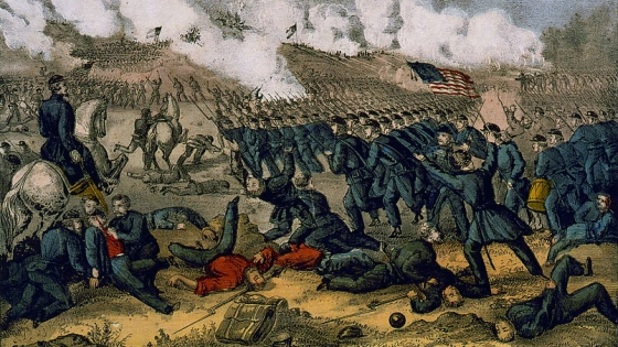 The Irish Brigade of New York State was almost wiped out at the Battle of Fredericksburg in 1862. It was just one of a number of immigrant regiments from Europe that fought for both the North and South during the Civil War.
