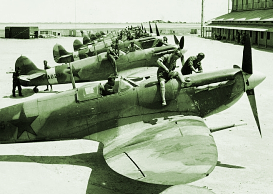 The RAF donated more than 1,200 Spitfires to the Soviet Union beginning in 1941.