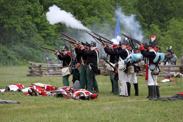 The 2012 reenactment of the Battle of Stoney Creek. Hamilton, Ontario, Canada.