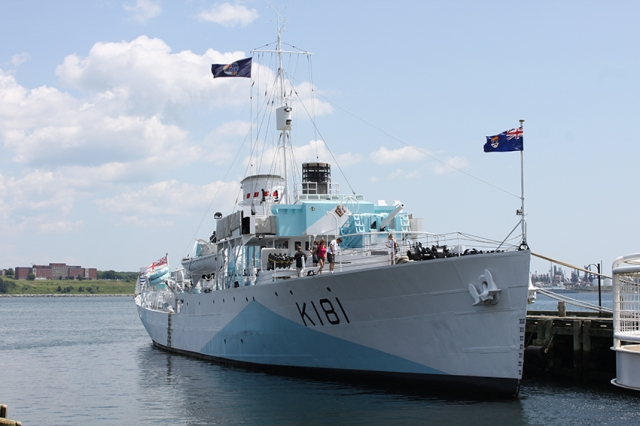 The World War Two Flower class corvette, HMCS Sackville in Halifax Harbour.