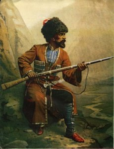 Chechen guerrillas of the 19th century likely would have looked like this.