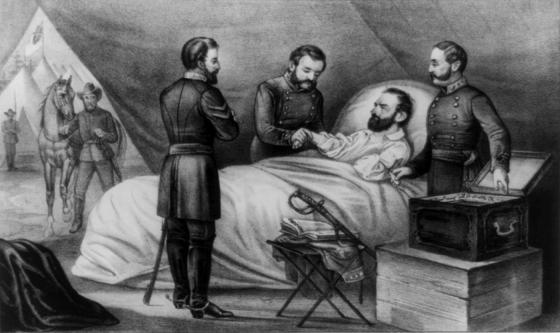 Stonewall Jackson lays dying after being shot by his own men 150 years ago today. New research by astronomers suggests that the moonlight that night might have played a role in the confusion that led to accidental the shooting.