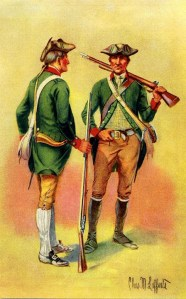 The Green Mountain Boys was the nickname for the Republic of Vermont's own national army.