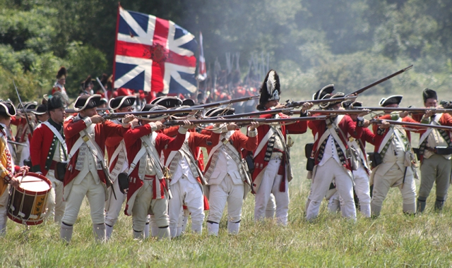 A reenactment of the American War of Independence at Fort George, Niagara-on-the-Lake, Canada.